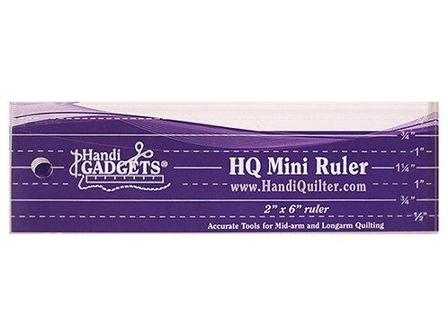 HQ Mini Ruler 2 polegadas x 6 polegadas