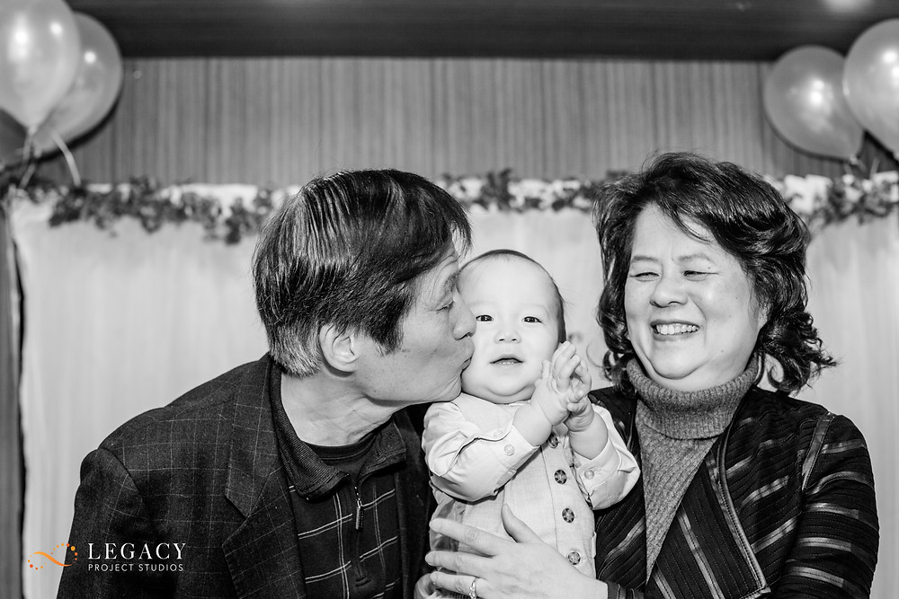 Connor's Paternal Grandparents giving him some love!