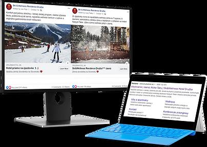 Facebook a Google kampane pre hotel Družba
