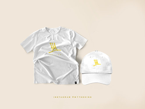 White Crown T-shirt and hat