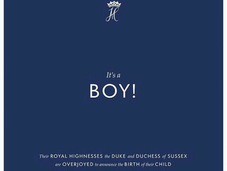 Baby Sussex is a boy!