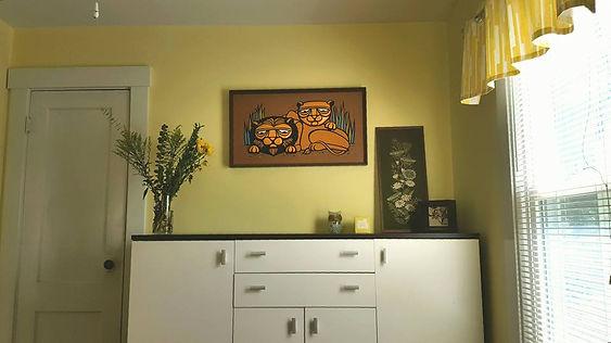handmade mid century owl wood lion gravel art deanne cheuk ikea