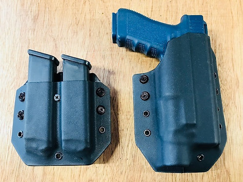 Glock 19/23 Gen 4 Holster Double Magazine Combo Package