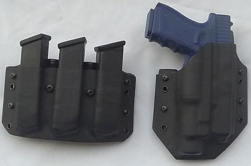 Glock 17/22 Gen 4 Holster Triple Magazine Combo Package