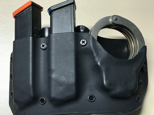 Glock .40/9mm Double Mag/Handcuff Combo Pouch