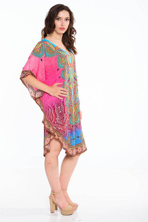 beach kaftan dress in pink short caftan dress silk kaftan embellished dress plus