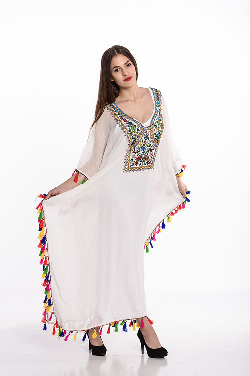 kaftan White beach dresses long kaftan dress maxi dresses Embroidered ka