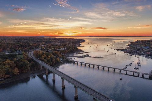 Belfast Bridges Sunrise