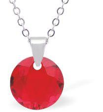 Swarovski Crystal Light Siam Necklace