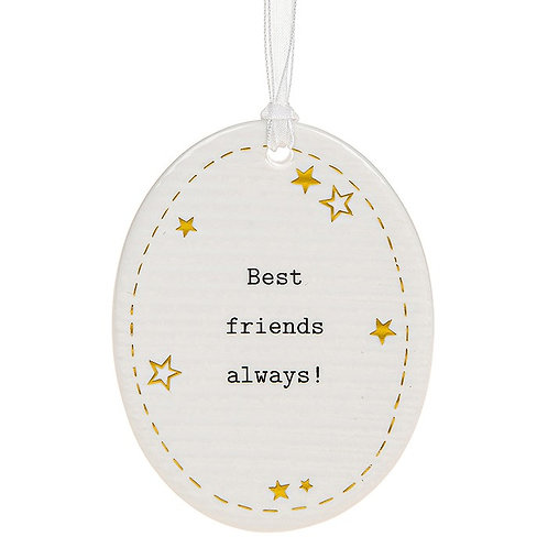 Thoughtful Words Oval Best Friends