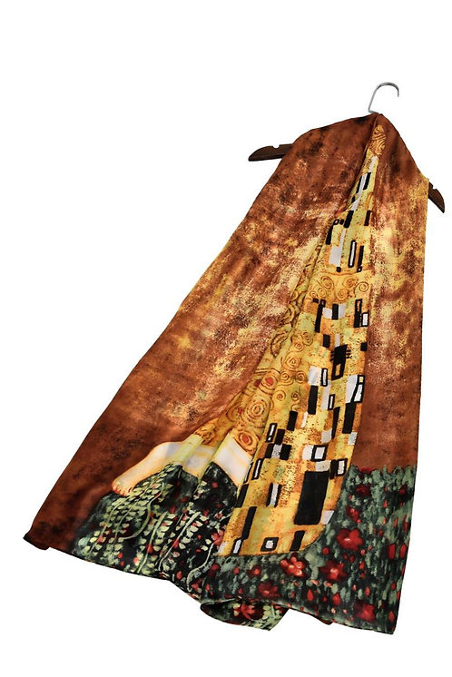 Klimt The Kiss Silk Scarf
