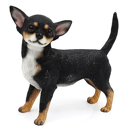 Chihuahua Figurine Black/Tan