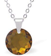 Swarovski Crystal Topaz Gold Necklace
