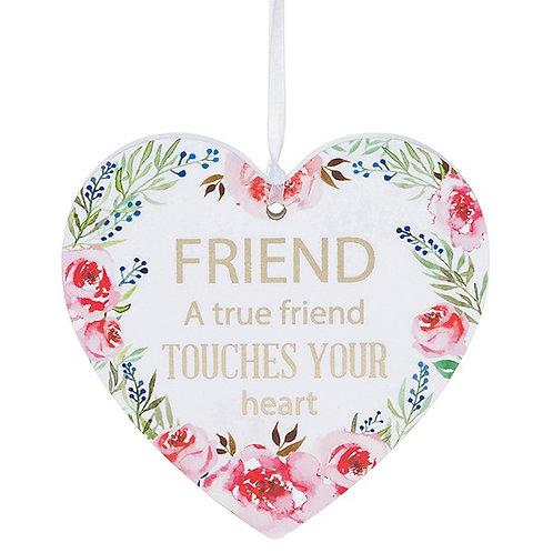 Fleur Heart Plaque Friend