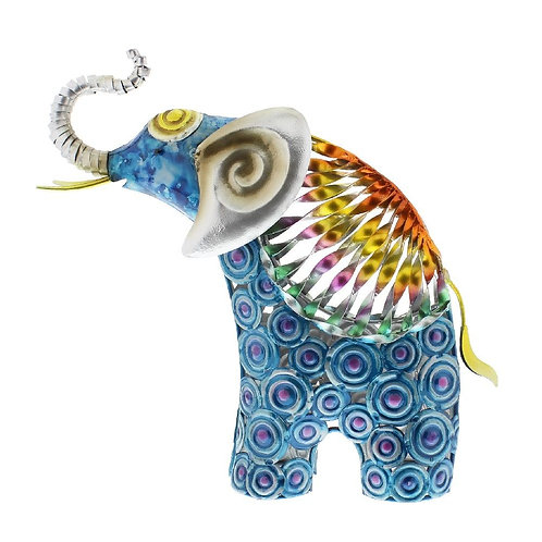 Country Living Hand Painted Metal Elephant