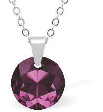 Swarovski Crystal Amethyst Necklace