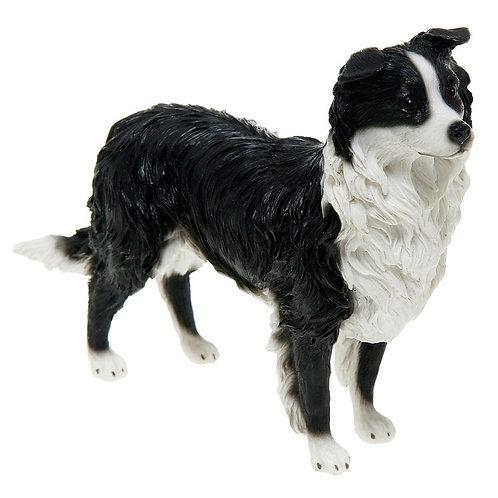 Black & White Sheepdog Figurine