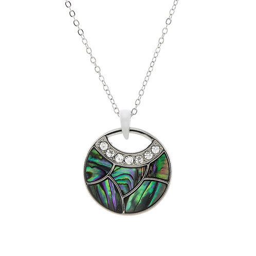 Paua Shell Cerchio Necklace