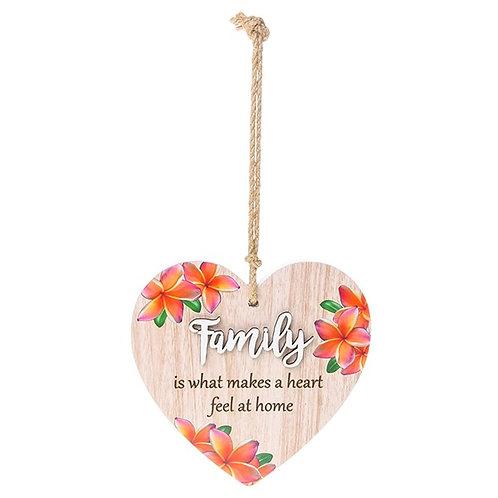 Pretty Words Hanging Heart Family
