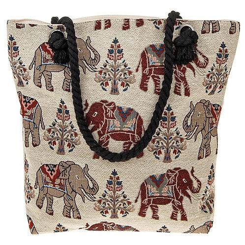 Equilibrium Elephant Tote Bag Cream