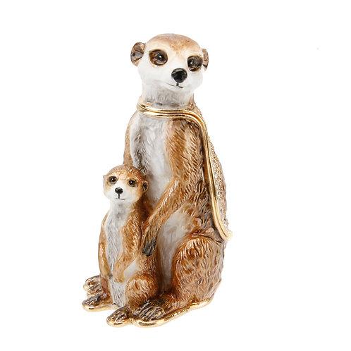 Meerkat with Baby Standing