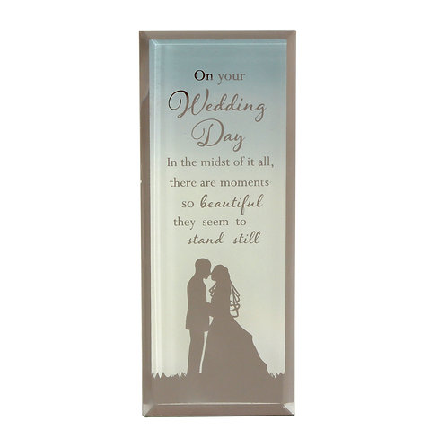 Reflections of the Heart Plaque - Wedding Day