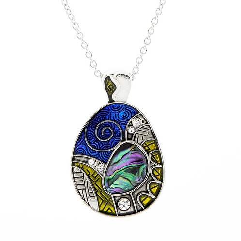 Paua Shell Aztec Necklace