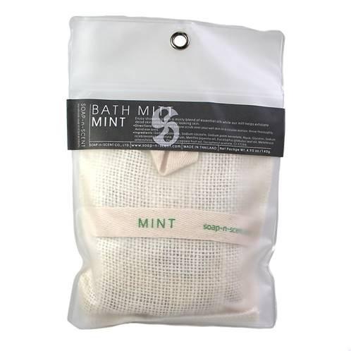 Mint scented soap/bath mitt