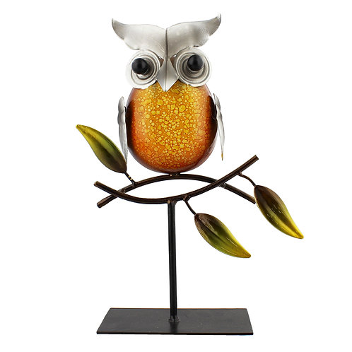 Metal Owl on Branch