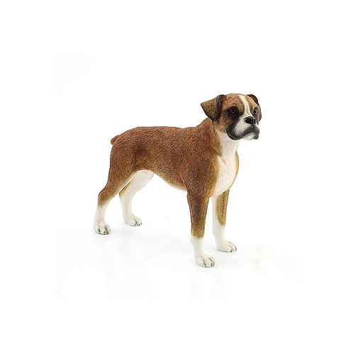 Boxer Dog Brown Figurine