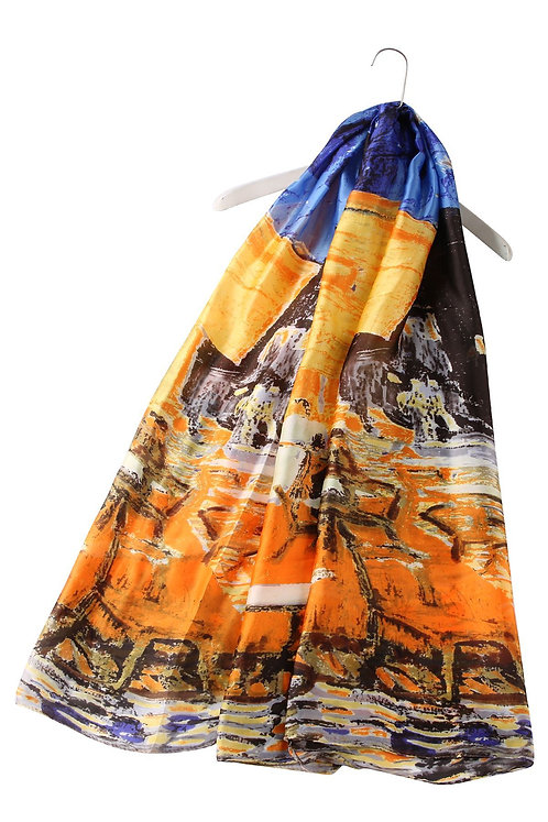 Impressionist Oil Painting House Silk Scarf