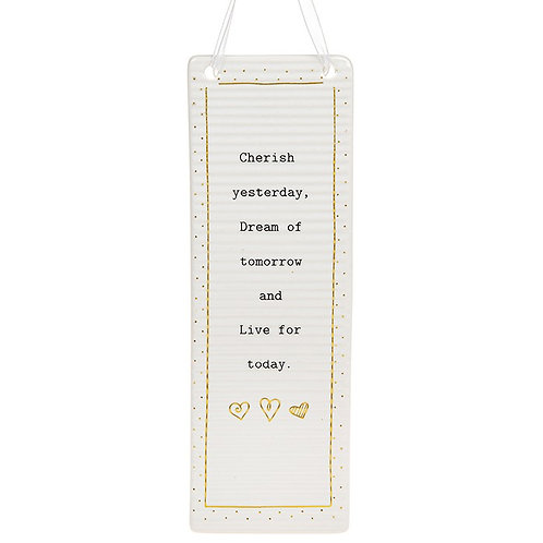 Thoughtful Words Rectangle Plaque Live Today