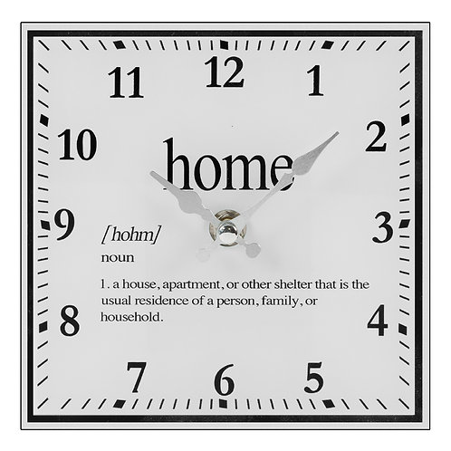 Hestia White & Silver Mantel Clock - Home
