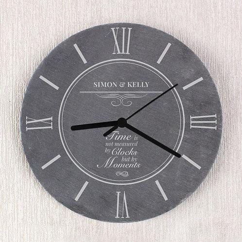 Personalised Moments Slate Clock