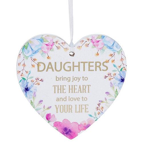 Fleur Heart Plaque Daughter