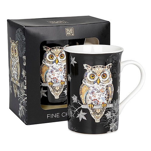 Bug Art Owl Mug
