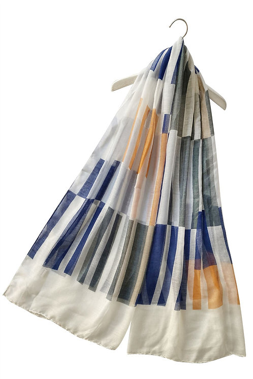 Abstract Rectangle Print Scarf