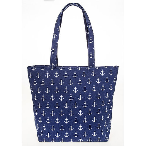 Nautical Tote Bag Navy