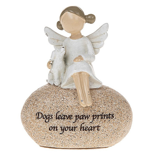 Sentiment Stone Angel & Dog