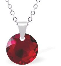 Swarovski Crystal Garnet Siam Red Necklace