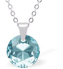 Swarovski Crystal Aquamarine Blue Necklace