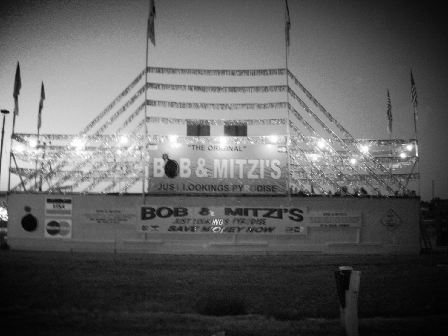Rear view of Bob & Mitzi's