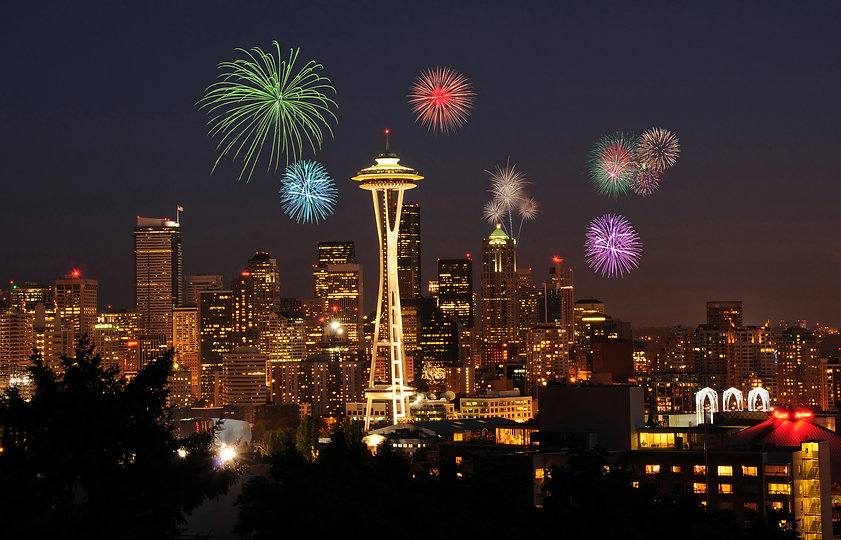 Seattle, Washington Fireworks