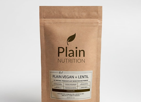 Plain Vegan + Lentil - Chocolate - 2kg(4.4lbs)