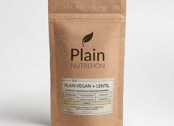 Plain Vegan + Lentil - Vanilla - 2kg(4.4lbs)