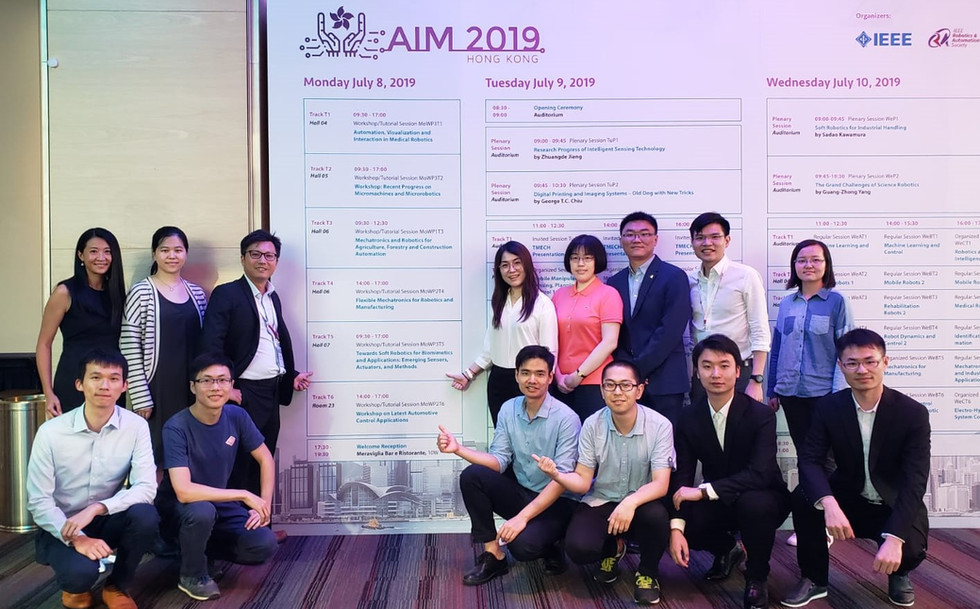 Group IRIS joined The IEEE/ASME International Conference on Advanced Intelligent Mechatronics (AIM) 2019