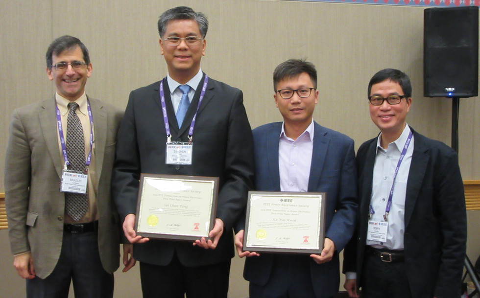 IRIS team was awarded the First Place Prize Paper Award in the 2017 IEEE Transactions on Power Electronics (TPEL)