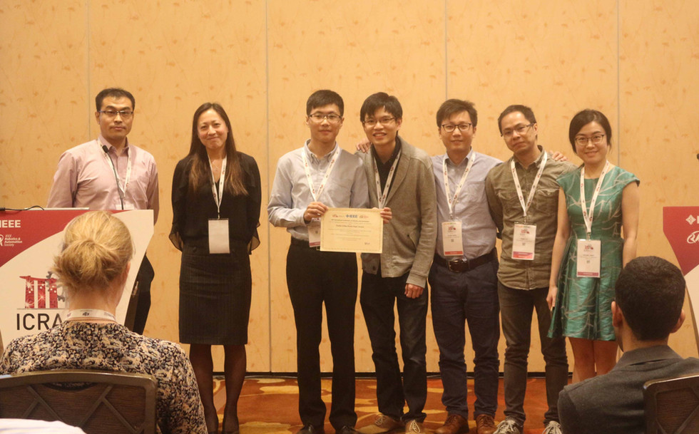 IRIS team was awarded Merit Poster Award in the IEEE International Conference on Robotics and Automation (ICRA) 2017