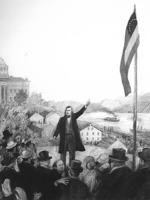Peyton Raising the Flag Sketch