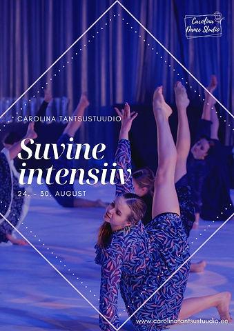 Carolina tantsustuudio suvine intensiiv/uute tantsijate vastuvõtt valikrühmadesse